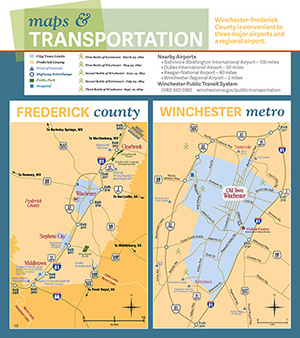 Winchester Frederick County Map