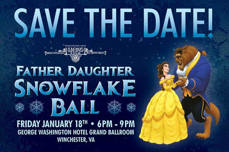 Daddy Daughter Snowflake Ball - Winchester-Frederick County