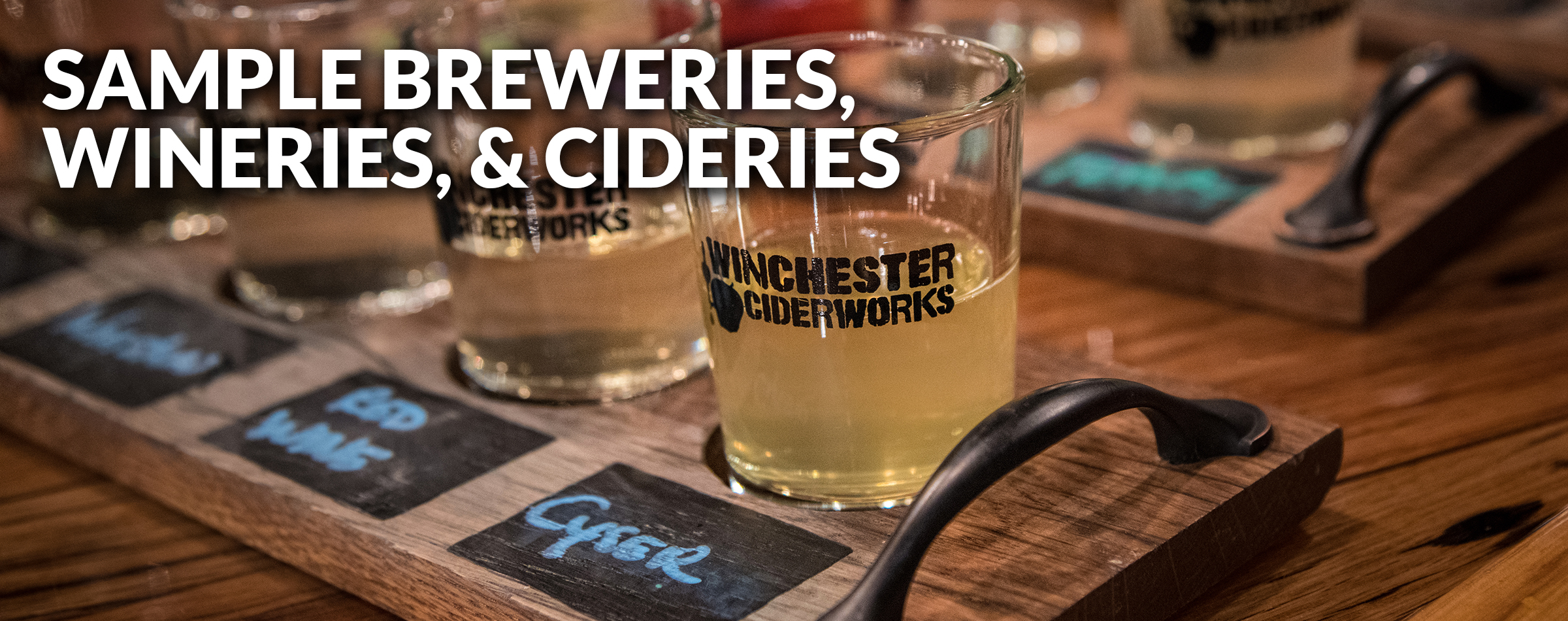 Breweries, Wineries, Cideries